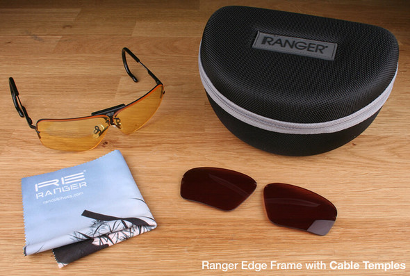 Randolph Edge 2-Lens Premium Hunting Kit with Medium Yellow and Modified Brown Lenses with Cable Temples