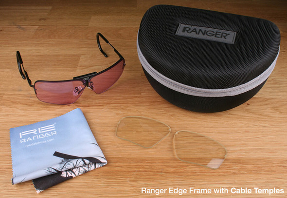 Randolph Edge 2-Lens Rifle & Pistol Kit with Pale Yellow and Light Purple Lenses with Cable Temples