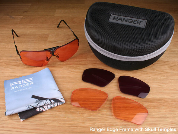 Randolph Edge 3-Lens Clay Kit with HD Light, HD Medium and CMT Lenses with Skull Temples