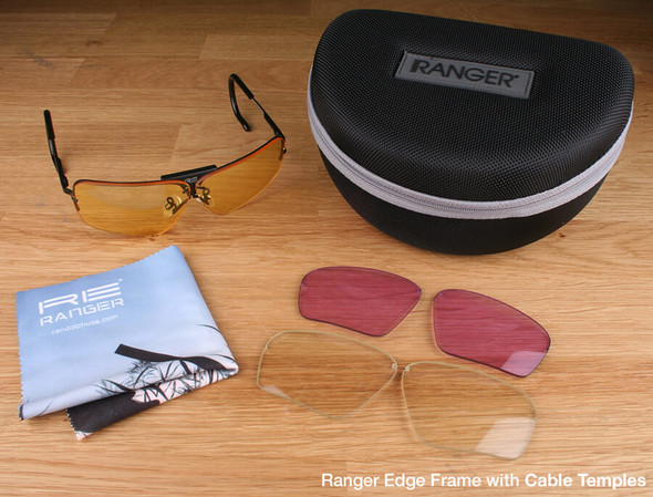 Randolph Edge 3-Lens Rifle & Pistol Kit with Pale Yellow, Medium Yellow and Light Purple Lenses with Cable Temples