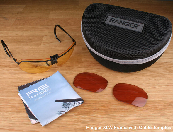 Randolph XLW 2-Lens Hunting Kit with Medium Yellow and Brown Lenses with Cable Temples