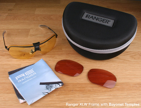 Randolph XLW 2-Lens Hunting Kit with Medium Yellow and Brown Lenses with Bayonet Temples