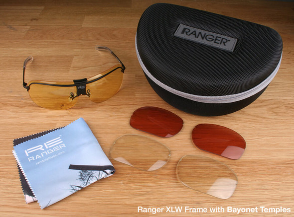 Randolph XLW 3-Lens Hunting Kit with Pale Yellow, Medium Yellow and Brown Lenses with Bayonet Temples