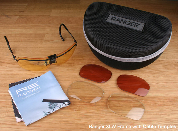 Randolph XLW 3-Lens Hunting Kit with Pale Yellow, Medium Yellow and Brown Lenses with Cable Temples