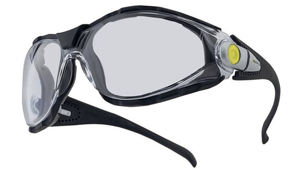 Elvex Pacaya LYVIZ Safety Glasses with Black Frame and Clear Anti-Fog Lens