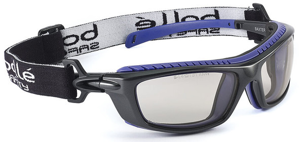 Bolle Baxter Safety Glasses with Black Frame, Strap and CSP Platinum Anti-Fog Lens
