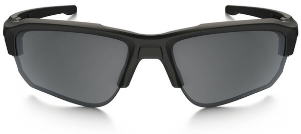 Oakley SI Speed Jacket Sunglasses with Matte Black Frame and Grey Polarized Lens - Front