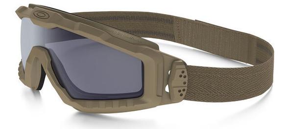 Oakley SI Ballistic Halo Goggle with Terrain Tan Frame and Grey Lens