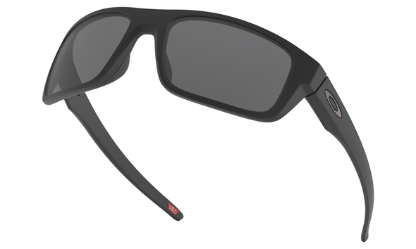 Oakley Drop Point Sunglasses with Matte Black Frame and Grey Lens OO9367-0160 Profile View