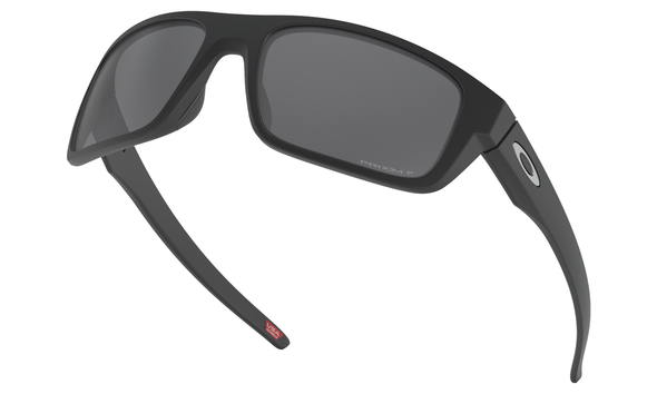 Oakley Drop Point Sunglasses with Matte Black Frame and Prizm Black Polarized Lens OO9367-0860 Front View