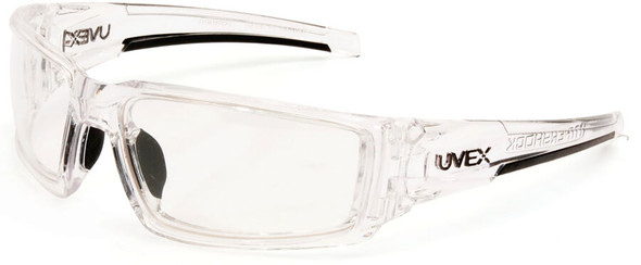 Uvex Hypershock Safety Glasses with Clear Ice Frame and Clear Hydroshield Anti-Fog Lens S2970HS