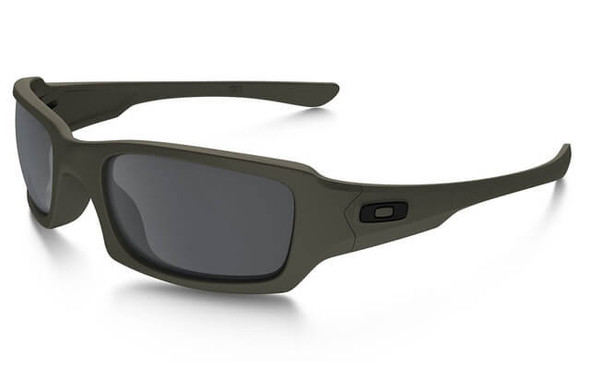 Oakley SI Fives Squared Sunglasses with Cerakote MIL Spec Green Frame and Black Iridium Lens