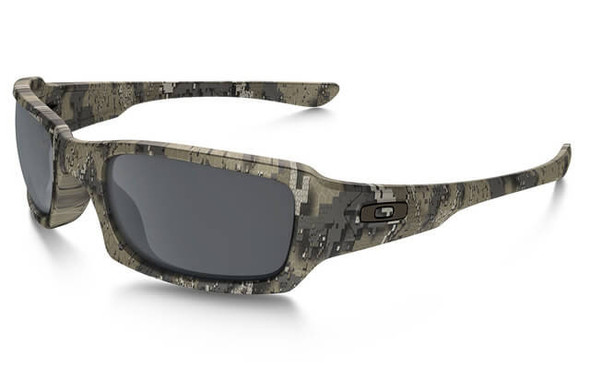 Oakley SI Fives Squared Sunglasses with Desolve Bare Frame and Black Iridium Lens