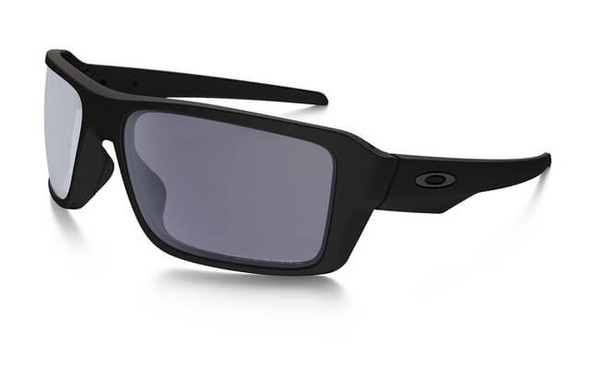 Oakley SI Double Edge Sunglasses with Matte Black Frame and Grey Polarized Lens
