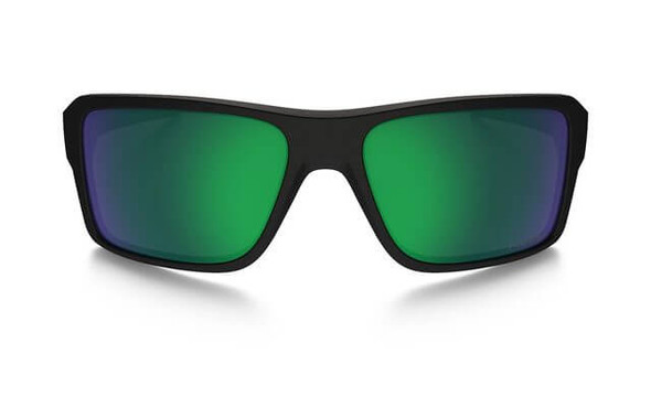 Oakley SI Double Edge Sunglasses with Matte Black Frame and Prizm Maritime Polarized Lens - Front