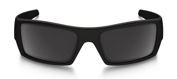 Oakley SI Blackside Gascan Sunglasses with Satin Black Frame and Prizm Black Polarized Lens - Front