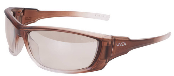 Uvex A1500 Safety Glasses with Matte Brown Frame and SCT Reflect-50 Lens