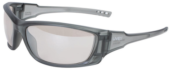 Uvex A1500 Safety Glasses with Matte Gray Frame and SCT Reflect-50 Lens