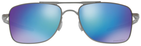 Oakley Gauge 8 Sunglasses with Matte Gunmetal Frame-57 and Prizm Sapphire Iridium Polarized Lens - Front