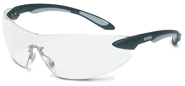 Uvex Ignite Safety Glasses with Black/Silver Frame and Clear Anti-Fog Lens