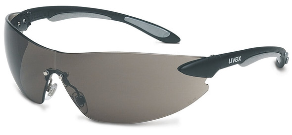 Uvex Ignite Safety Glasses with Black/Silver Frame and Gray Anti-Fog Lens