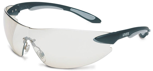 Uvex Ignite Safety Glasses with Black/Silver Frame and Ref-50 Lens