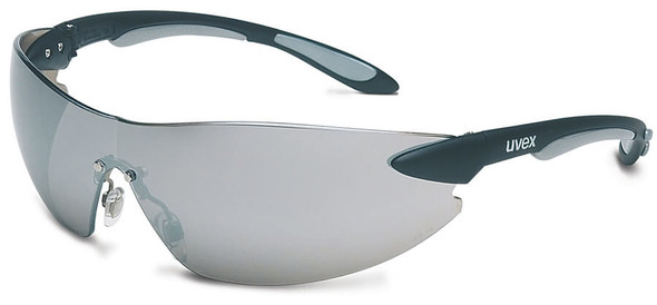 Uvex Ignite Safety Glasses with Black/Silver Frame and Silver Mirror Lens