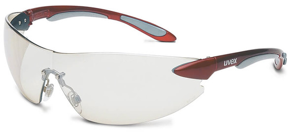 Uvex Ignite Safety Glasses with Metallic Red Frame and Ref-50 Lens