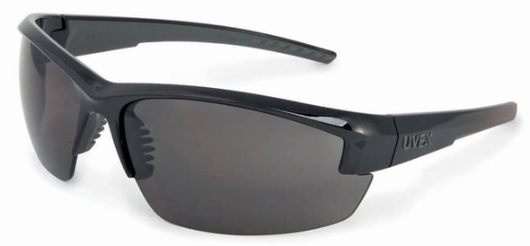 Uvex Mercury Safety Glasses with Black Frame and Gray Lens