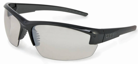 Uvex Mercury Safety Glasses with Black Frame and SCT Ref-50 Lens