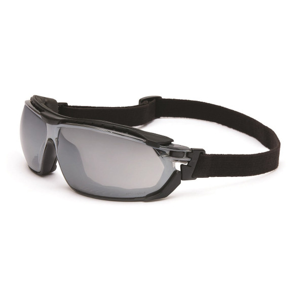 Uvex Tirade Safety Glasses Indoor/Outdoor Anti-Fog Lens with Goggle Strap Installed