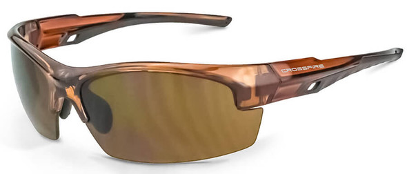 Crossfire Crucible Safety Glasses with Crystal Brown Frame and HD Brown Lens