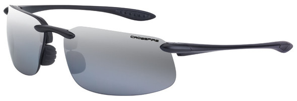 Crossfire ES4 Safety Glasses with Crystal Black Frame and Silver Mirror Polarized Lens