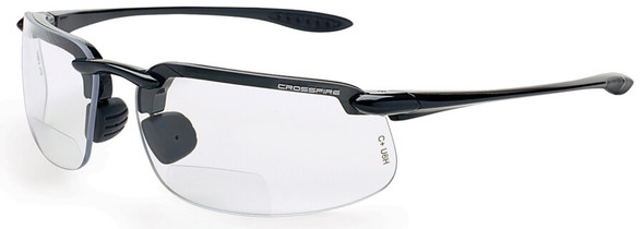 Crossfire ES4 Bifocal Safety Glasses with Pearl Gray Frame and Clear Lens