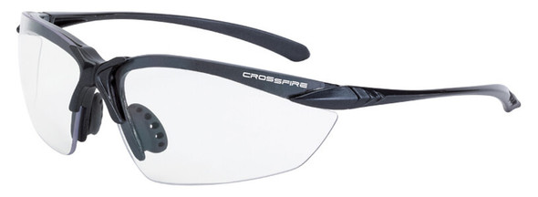 Crossfire Sniper Safety Glasses with Matte Black Frame and Clear Lens