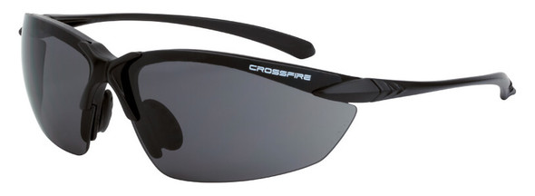 Crossfire Sniper Safety Glasses with Matte Black Frame and Smoke Lens