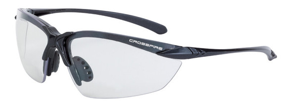 Crossfire Sniper Safety Glasses with Shiny Pearl Gray Frame and Indoor-Outdoor Lens