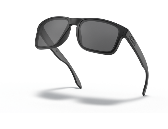 Oakley SI Holbrook Sunglasses with Matte Black Tonal USA Flag Frame and Grey Lens OO9102-E555 Profile View