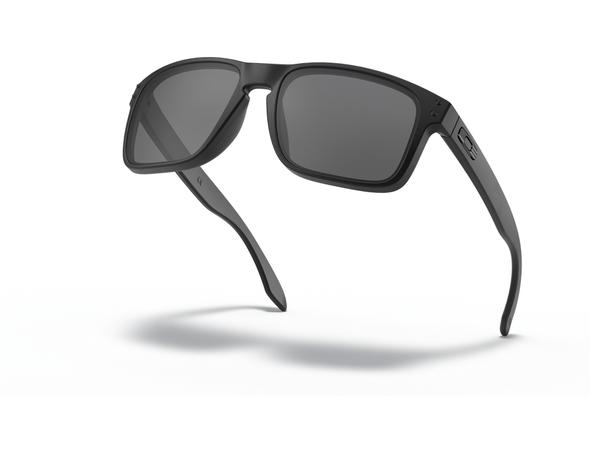 Oakley SI Holbrook Sunglasses with Matte Black Tonal USA Flag Frame and Grey Lens OO9102-E555 Profile View
