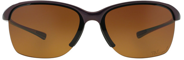 Oakley Unstoppable Sunglasses with Raspberry Spritzer Frame and Brown Gradient Polarized Lens - Front