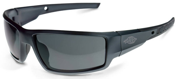 Crossfire Cumulus Safety Glasses with Aluminum Gray Frame and Smoke Lens