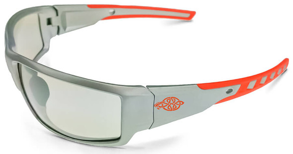 Crossfire Cumulus Safety Glasses with Silver Frame and Indoor-Outdoor Lens