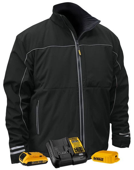 Dewalt Black Softshell Heated Jacket DCHJ072D1 Kit View