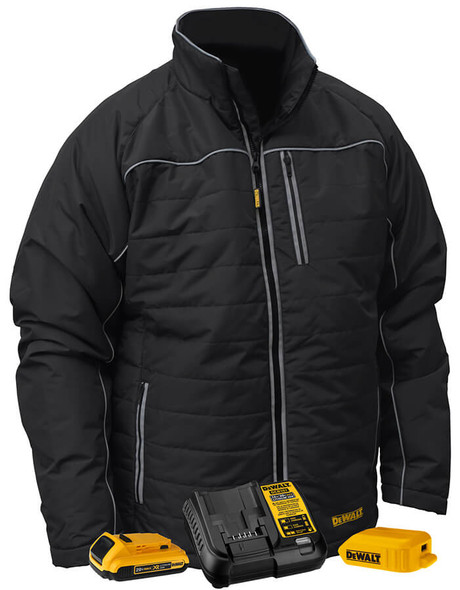 DEWALT DCHJ075D1 Unisex Heated Quilted Soft Shell Jacket With Battery & Charger