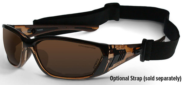 Crossfire 710 Foam Lined Safety Glasses with Optional Strap ES35 (Sold Separately)