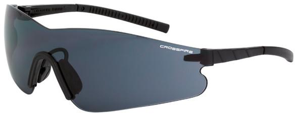 Crossfire Blade Safety Glasses Black Temples Smoke Anti-Fog Lens 3021AF