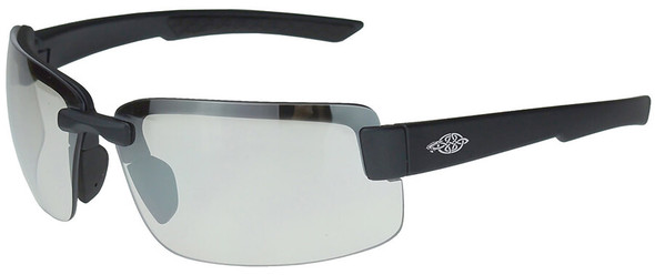 Crossfire ES6 Safety Glasses with Matte Black Frame and Indoor-Outdoor Lens