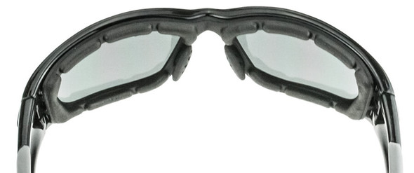 Crossfire MP7 Foam Lined Safety Glasses with Crystal Black Frame and Clear Anti-Fog Lens