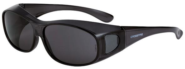 Crossfire OG3 OTG Safety Glasses with Crystal Black Frame and Large Smoke Lens 3116