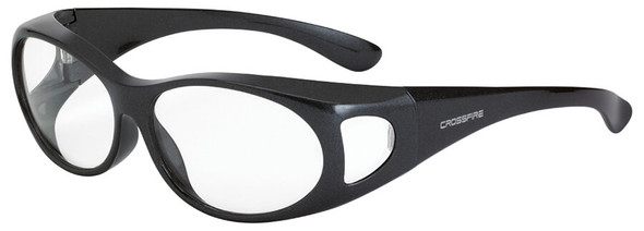 Crossfire OG3 OTG Safety Glasses with Shiny Pearl Gray Frame and Clear Lens